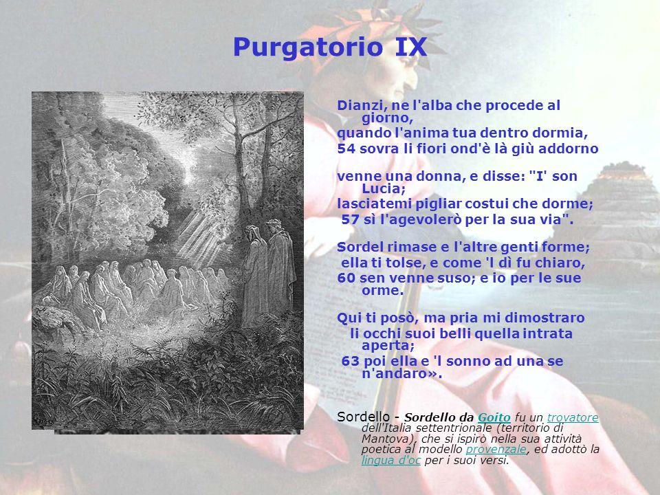 Purgatorio IX Dianzi, ne l alba che procede al giorno,