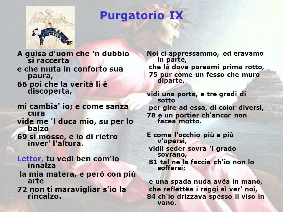 Purgatorio IX A guisa d uom che n dubbio si raccerta