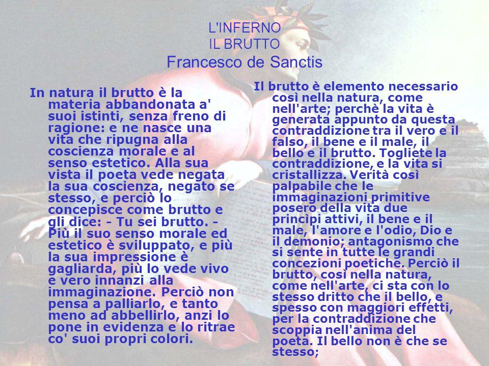 L INFERNO IL BRUTTO Francesco de Sanctis