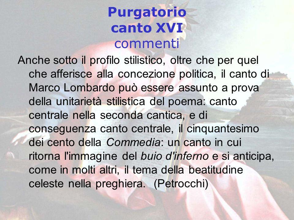 Purgatorio canto XVI commenti