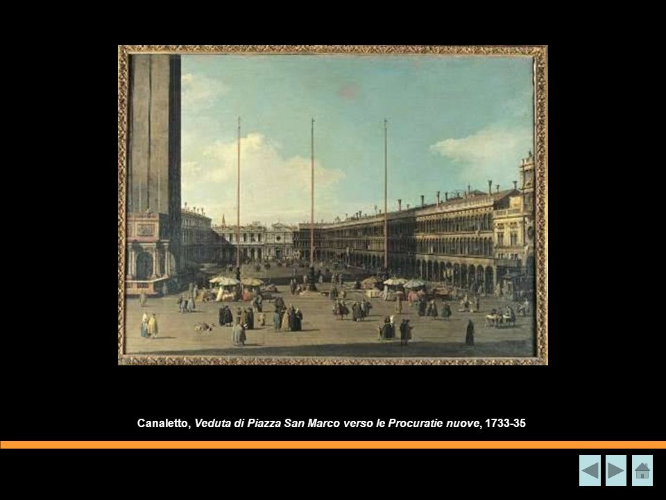 Canaletto, Veduta di Piazza San Marco verso le Procuratie nuove, 1733-35