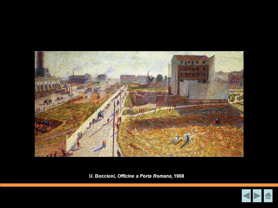 U. Boccioni, Officine a Porta Romana, 1908