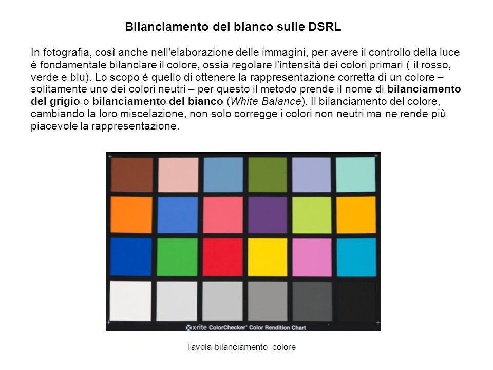 Bilanciamento del bianco sulle DSRL