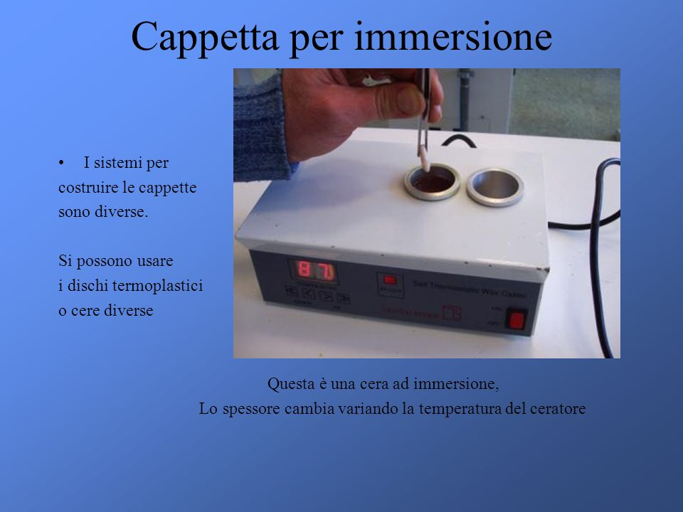 Cappetta per immersione