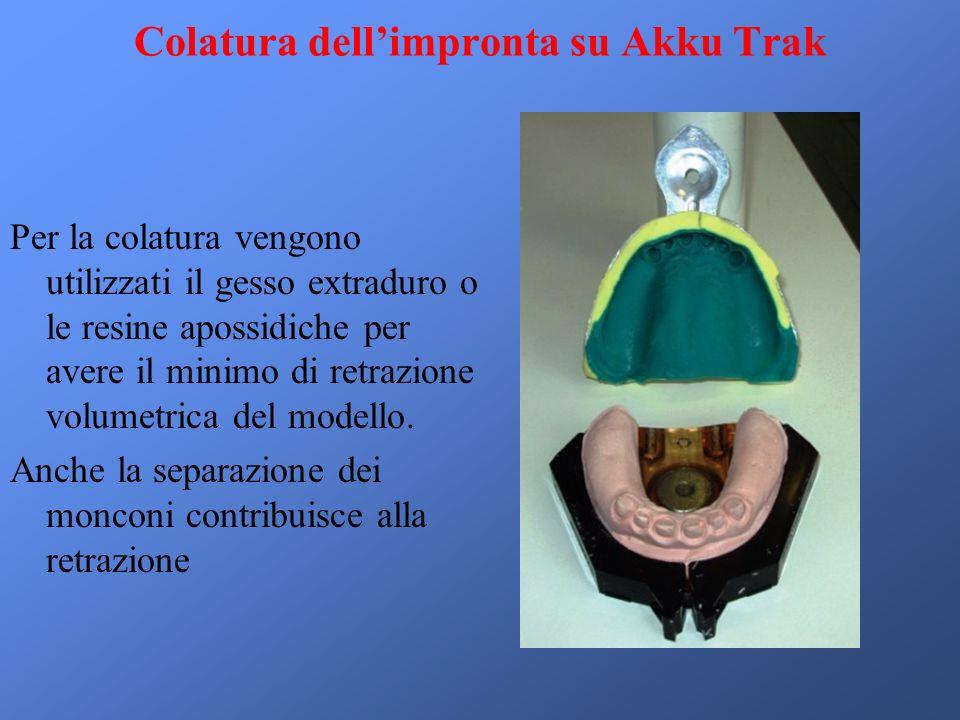 Colatura dell'impronta su Akku Trak