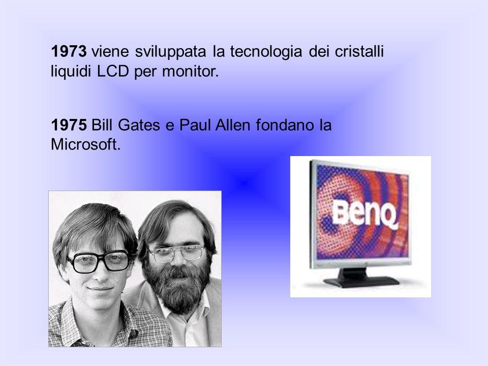 1975 Bill Gates e Paul Allen fondano la Microsoft.