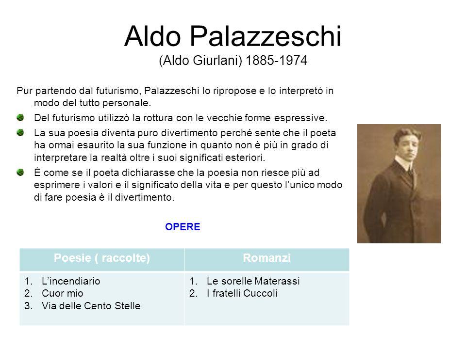 Aldo Palazzeschi (Aldo Giurlani) 1885-1974
