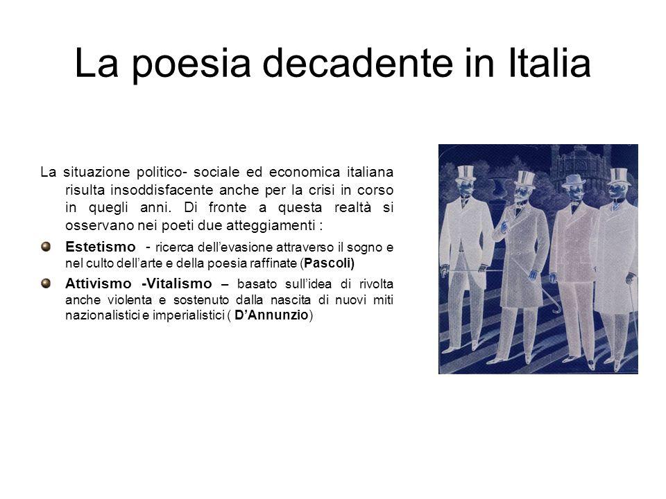 La poesia decadente in Italia
