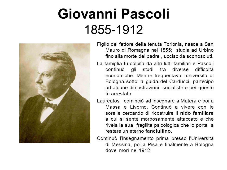 Giovanni Pascoli 1855-1912
