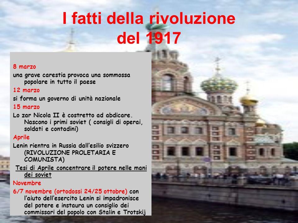 I fatti della rivoluzione del 1917