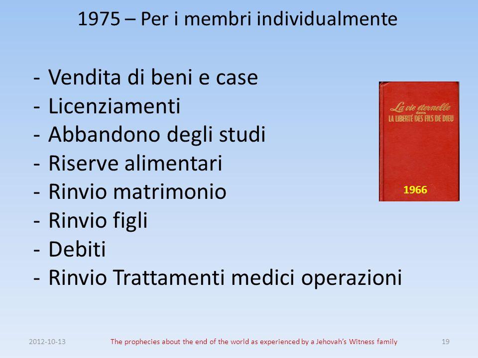 1975 – Per i membri individualmente