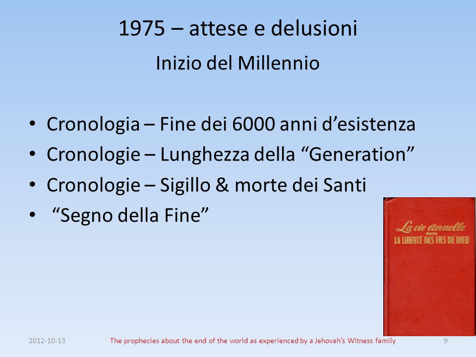 1975 – attese e delusioni Inizio del Millennio