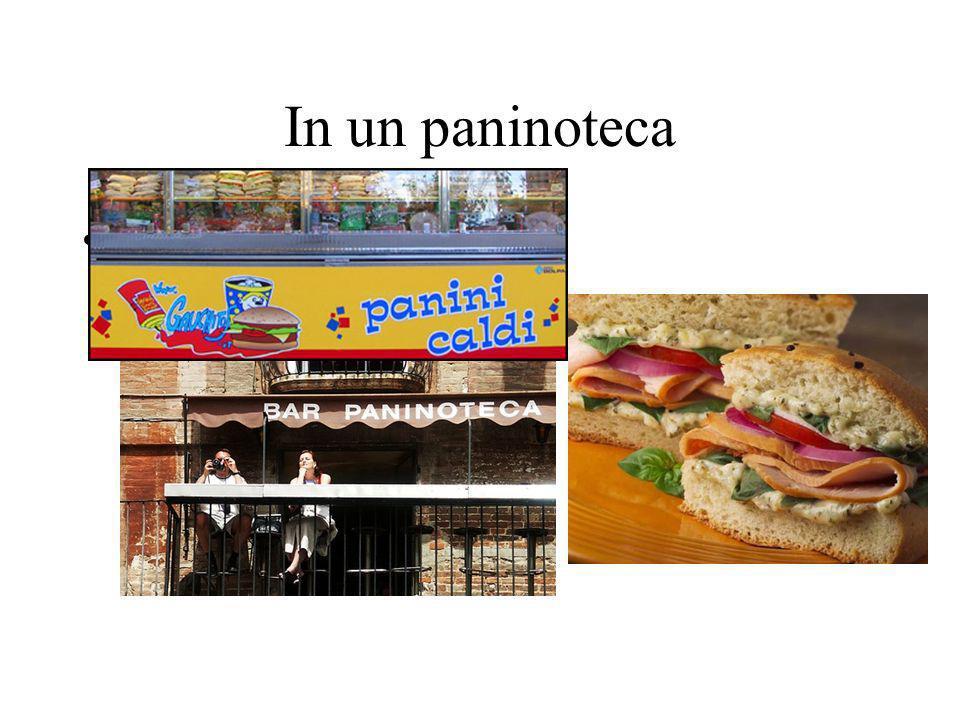 In un paninoteca