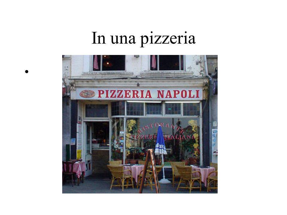In una pizzeria