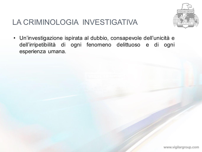 LA CRIMINOLOGIA INVESTIGATIVA