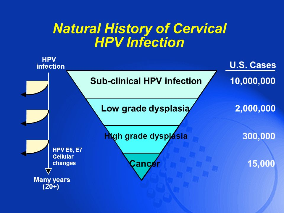 Natural History of Cervical Sub-clinical HPV infection