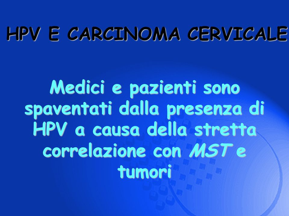 HPV E CARCINOMA CERVICALE