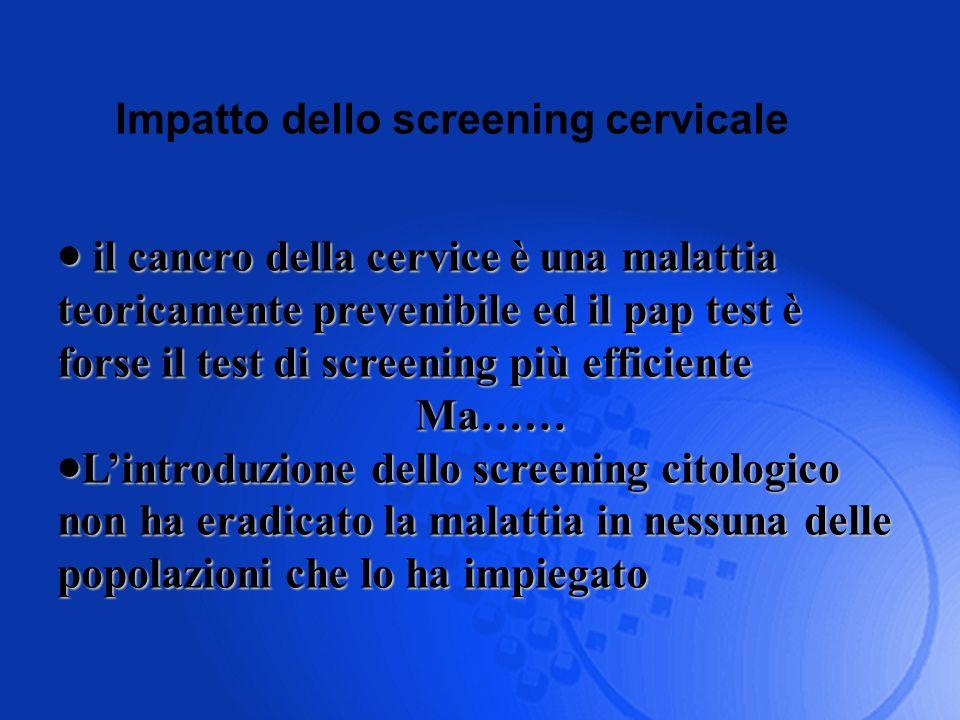 Impatto dello screening cervicale