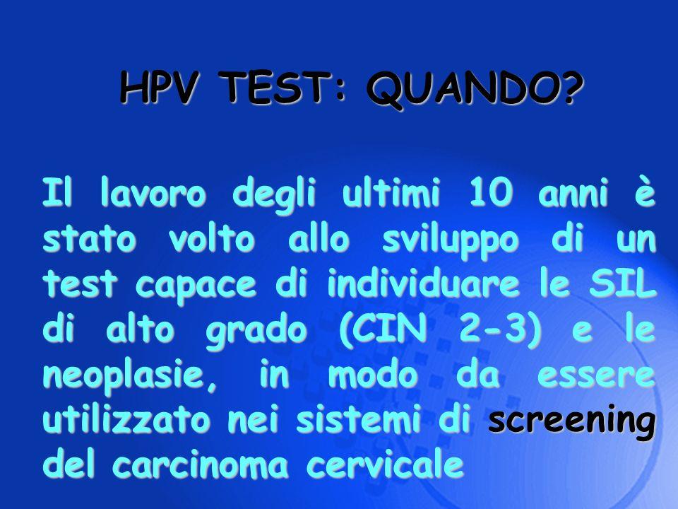 HPV TEST: QUANDO