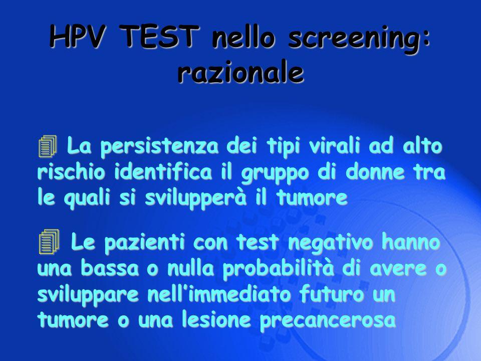 HPV TEST nello screening: razionale