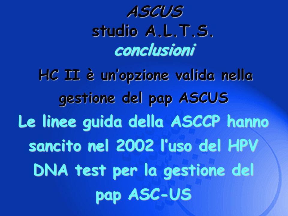 HC II è un'opzione valida nella gestione del pap ASCUS