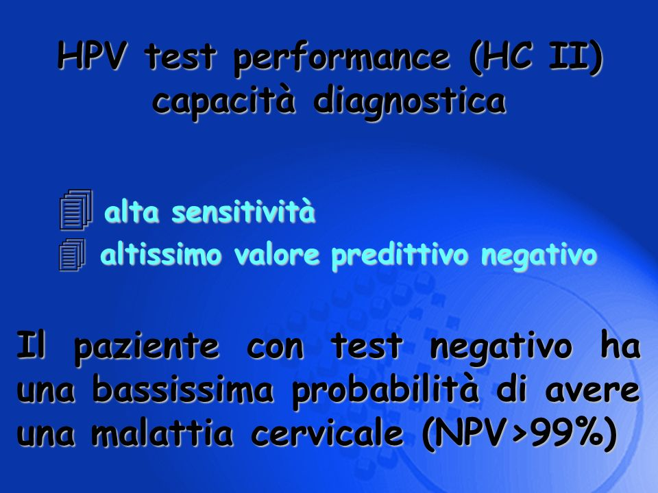 HPV test performance (HC II)