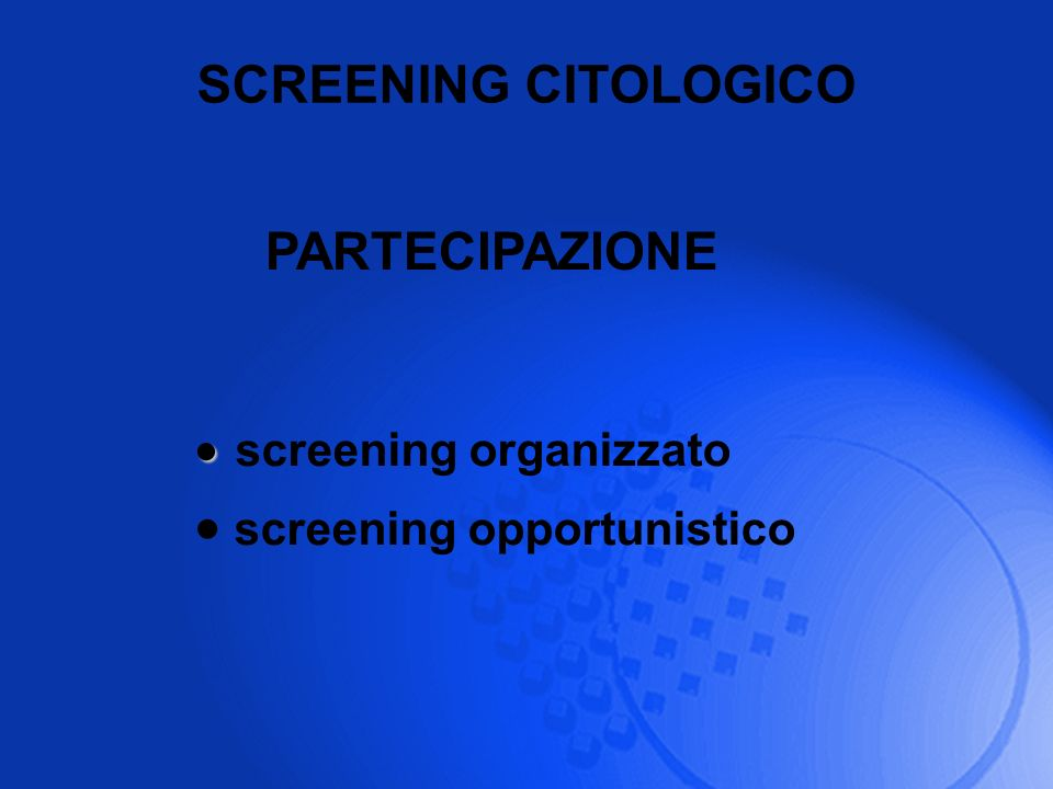 screening organizzato