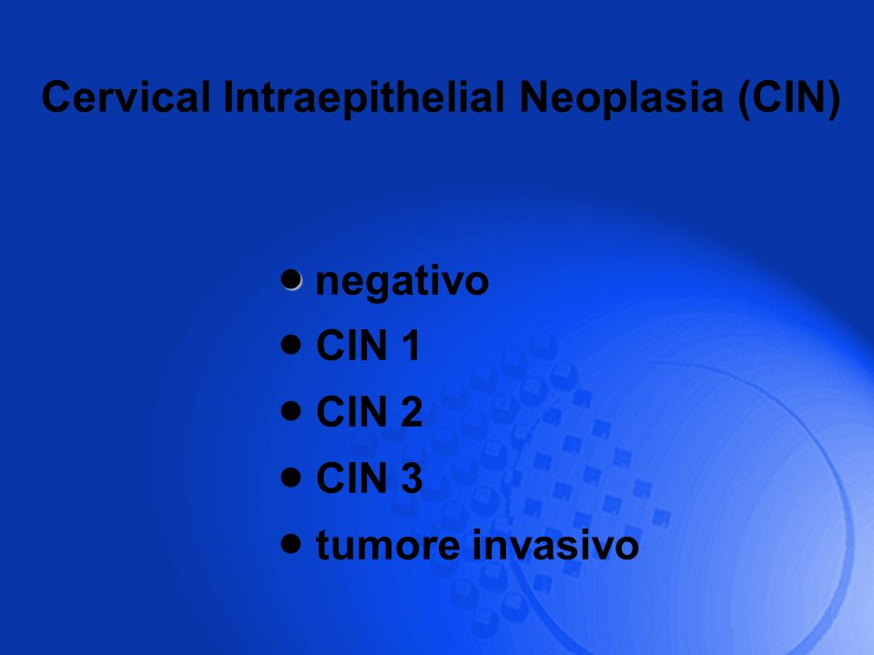 Cervical Intraepithelial Neoplasia (CIN)
