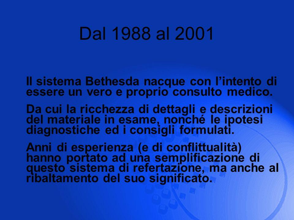 Dal 1988 al 2001 Il sistema Bethesda nacque con l'intento di essere un vero e proprio consulto medico.