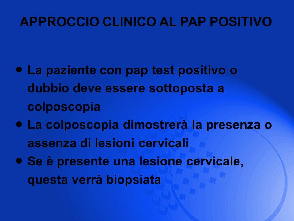 APPROCCIO CLINICO AL PAP POSITIVO