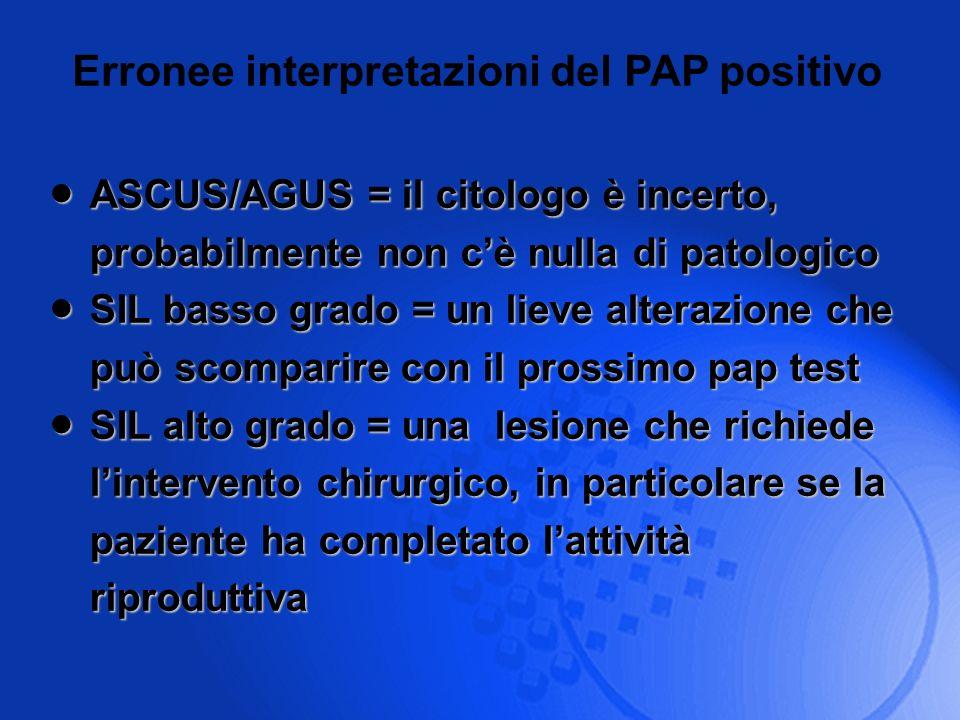 Erronee interpretazioni del PAP positivo