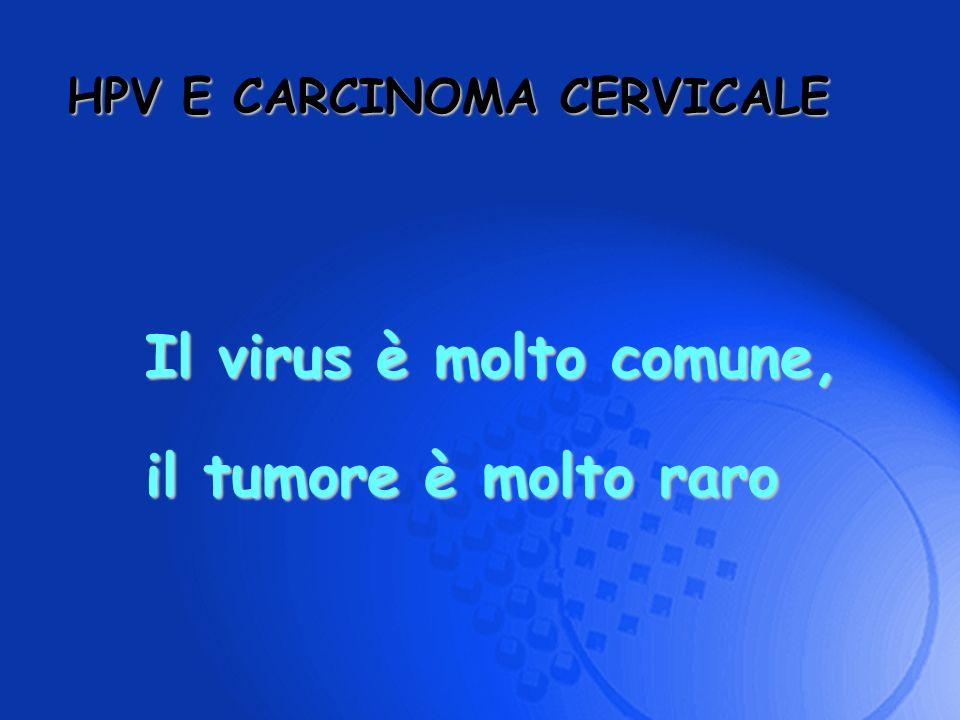 Il virus è molto comune, il tumore è molto raro