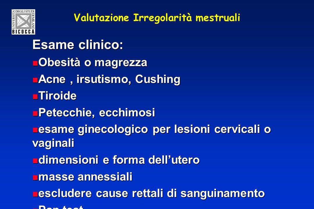Valutazione Irregolarità mestruali