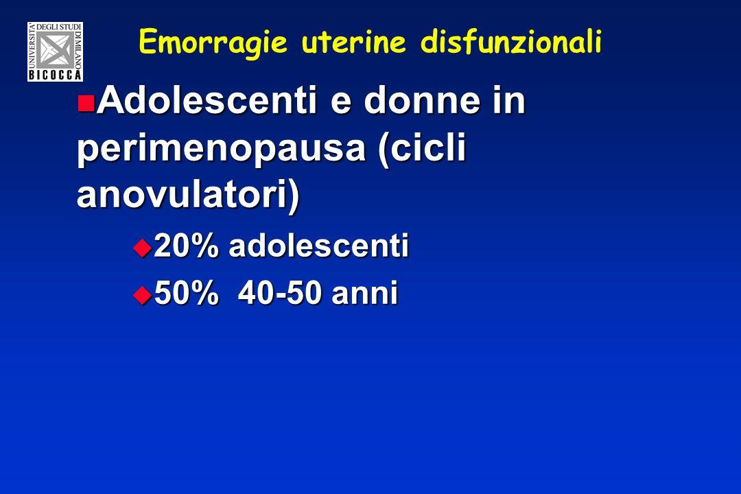 Emorragie uterine disfunzionali