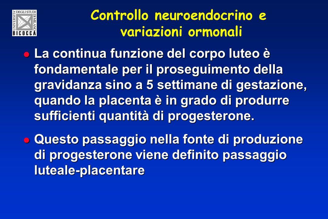 Controllo neuroendocrino e variazioni ormonali