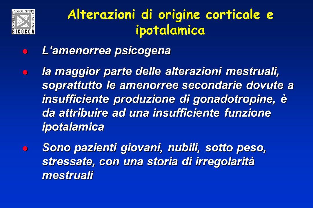Alterazioni di origine corticale e ipotalamica