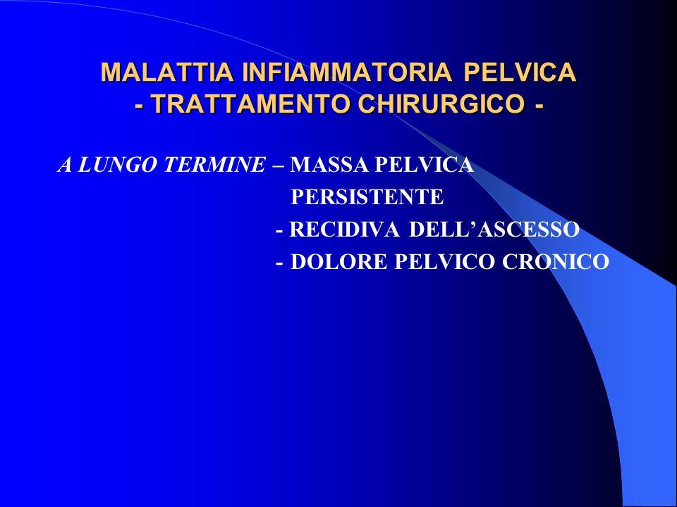 MALATTIA INFIAMMATORIA PELVICA - TRATTAMENTO CHIRURGICO -