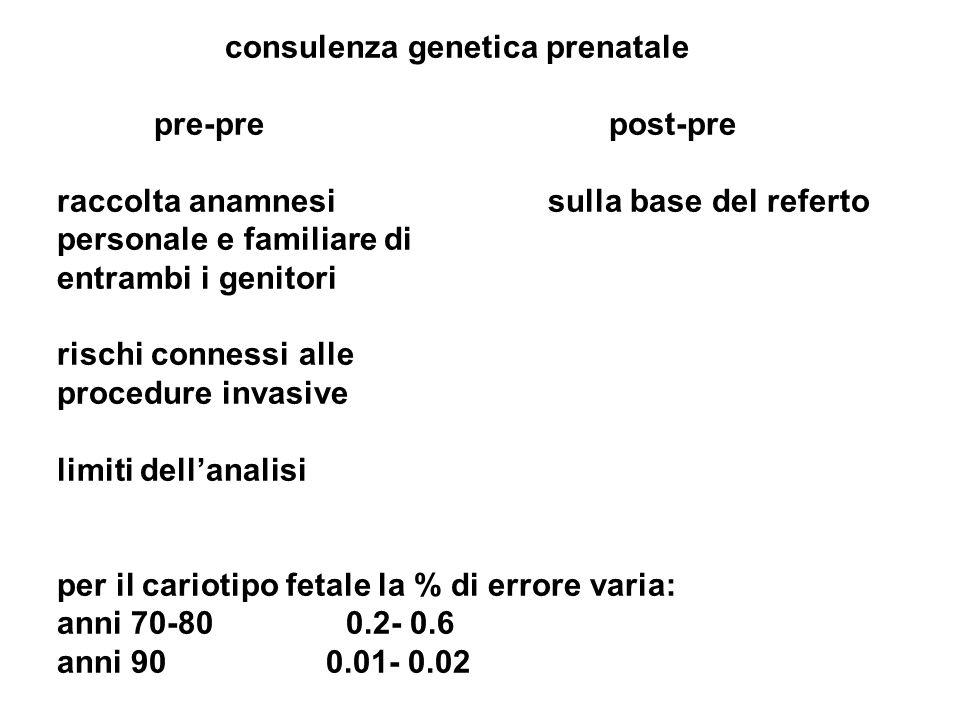 consulenza genetica prenatale