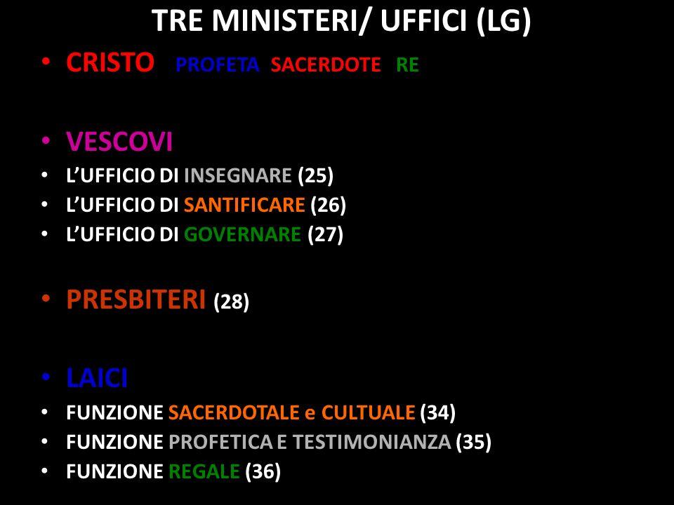 TRE MINISTERI/ UFFICI (LG)