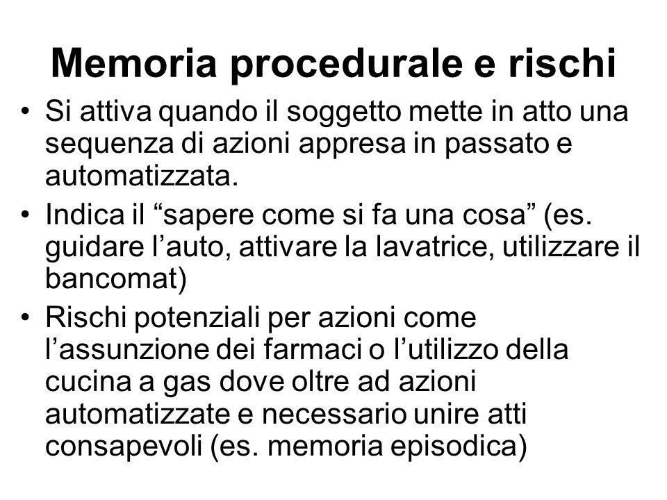 Memoria procedurale e rischi