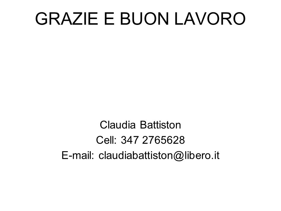 E-mail: claudiabattiston@libero.it