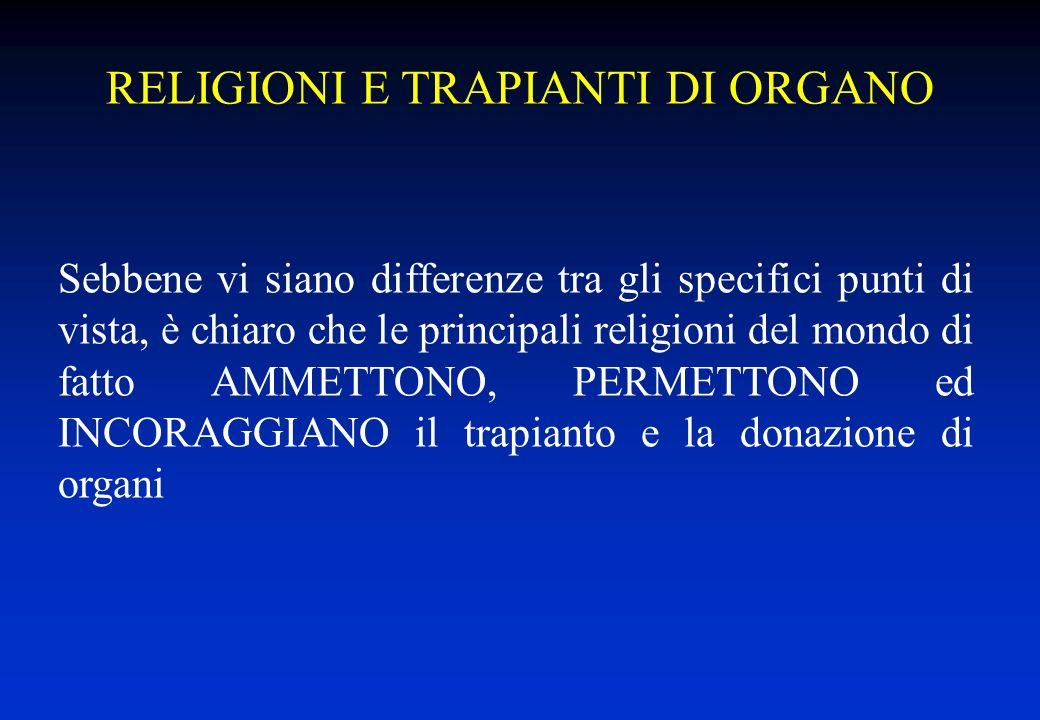 RELIGIONI E TRAPIANTI DI ORGANO