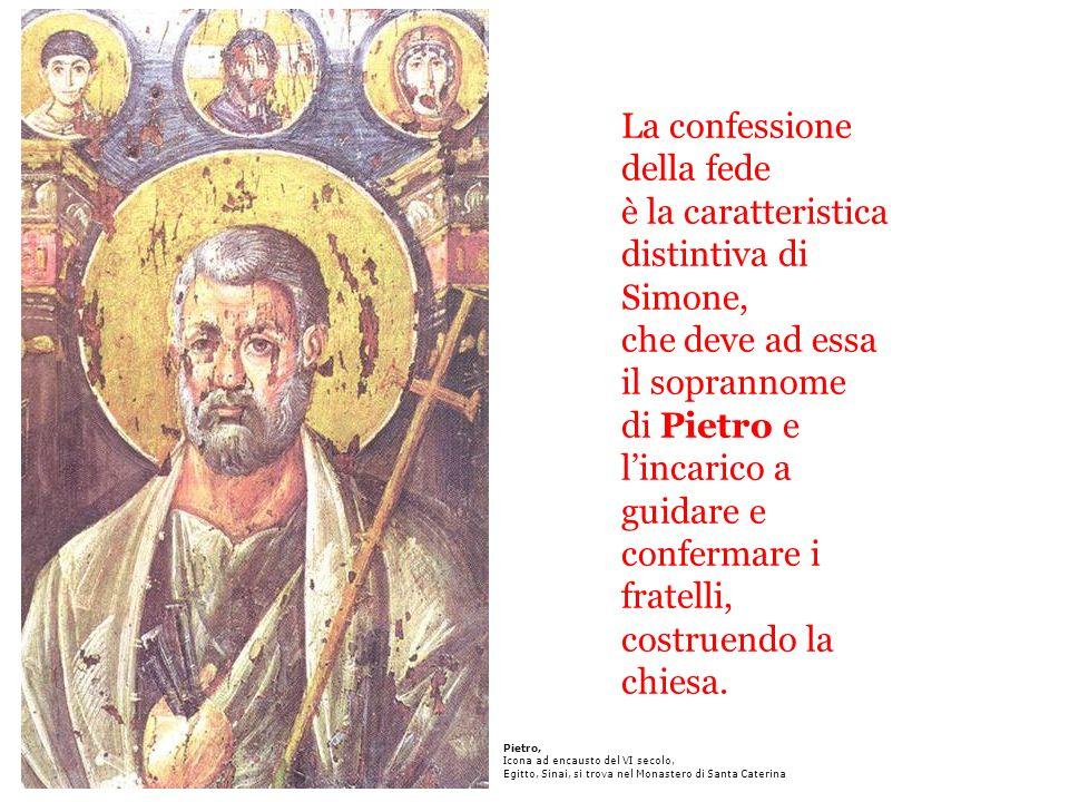 La confessione della fede è la caratteristica distintiva di Simone, che deve ad essa il soprannome di Pietro e l'incarico a guidare e confermare i fratelli, costruendo la chiesa.