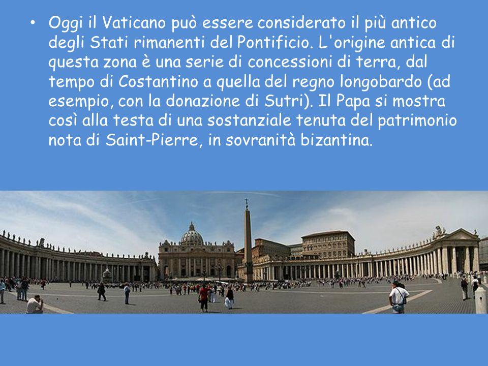 Oggi il Vaticano può essere considerato il più antico degli Stati rimanenti del Pontificio.