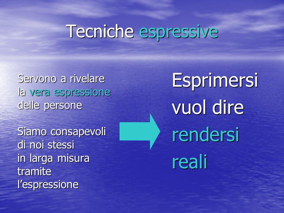 Esprimersi vuol dire rendersi reali Tecniche espressive