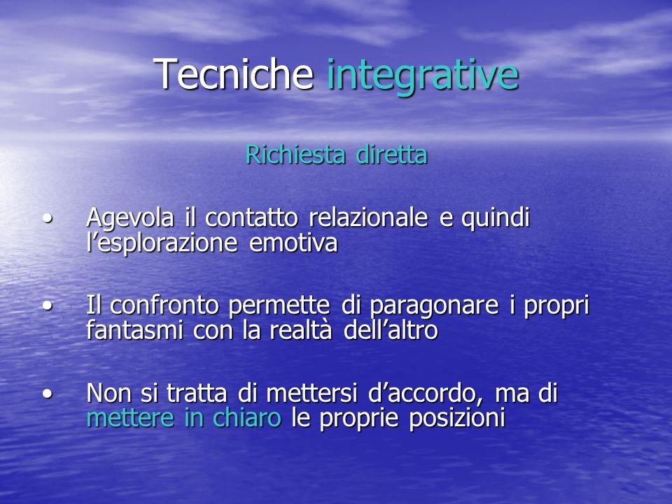 Tecniche integrative Richiesta diretta