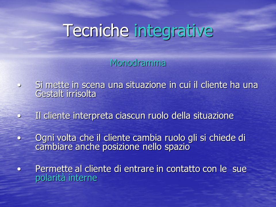 Tecniche integrative Monodramma