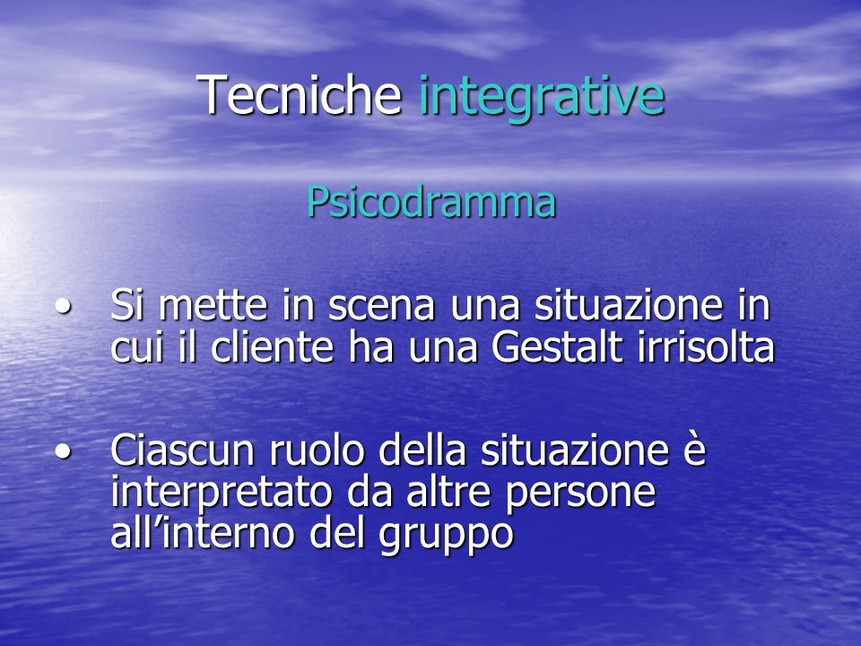 Tecniche integrative Psicodramma