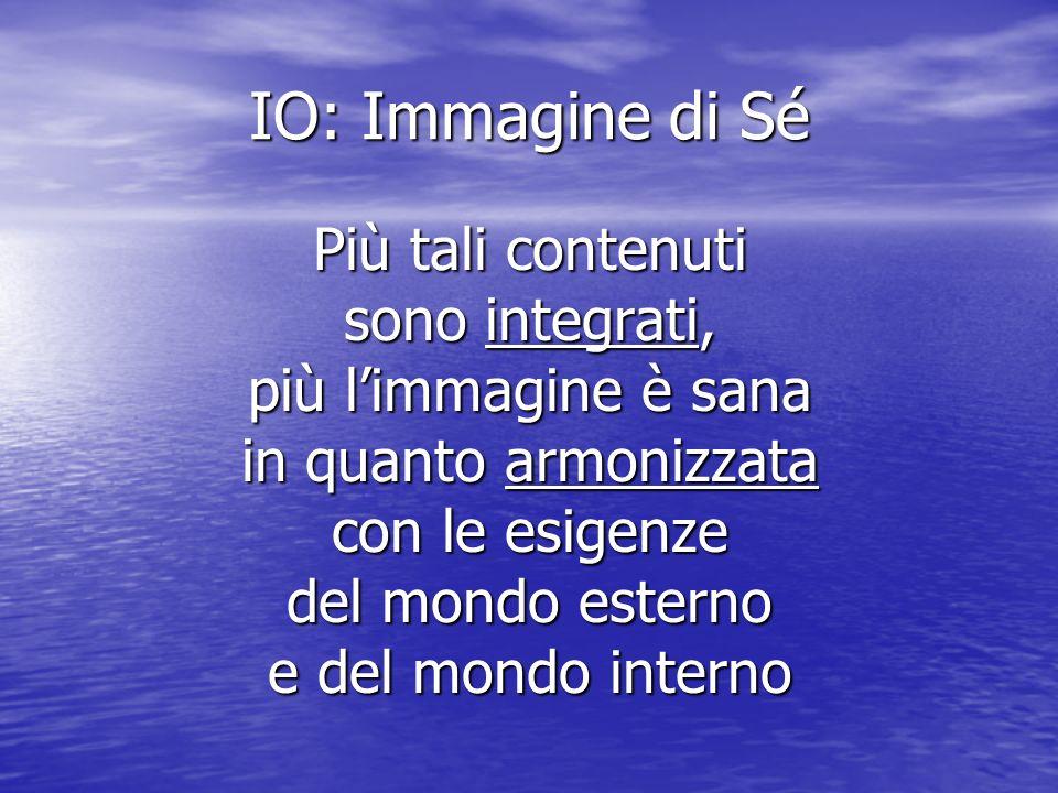 IO: Immagine di Sé Più tali contenuti sono integrati,