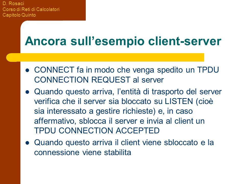 Ancora sull'esempio client-server